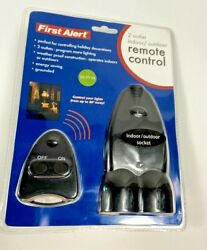 First Alert 2 Outlet Outdoor Remote Control FA200 NEW Free Ship $15.49