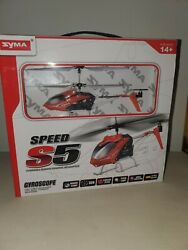 Syma Speed S5 REMOTE CONTROL HELICOPTER Gyroscope 3 Channel Ages 14 NEW $19.95