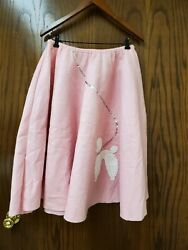 Adult Poodle Skirt Pink And White $19.90