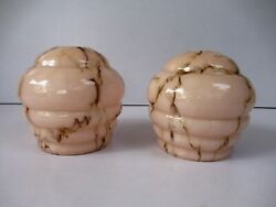 Antique Art Deco French Lamp Shade Marble Glass Electric Bulb Decorative Rarequot;F2 $149.00