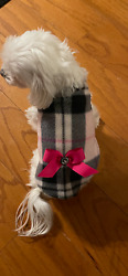 XX Small Pretty in Plaid Sweater Dog dress clothes Puppy Apparel TOY $9.99