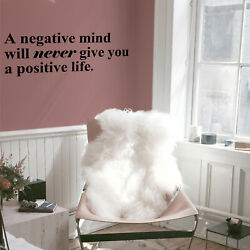 Vinyl Wall Art Decal A Negative Mind Will ... Inspirational Quotes 10* x 28* $13.99