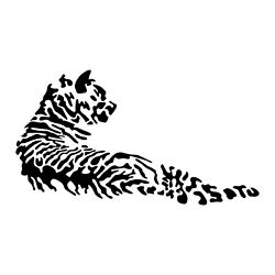 Vinyl Wall Art Decal Tiger Laying 22quot; x 39.5quot; Home Bedroom Animal Design $17.99
