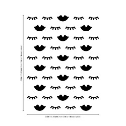 Vinyl Wall Art Decal 20 Lashes amp; Lips From 1quot; To 4quot; Each Girly Design $15.99