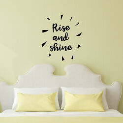 Vinyl Wall Art Decal Rise and Shine 27* x 23* Morning Motivational Decor $14.99