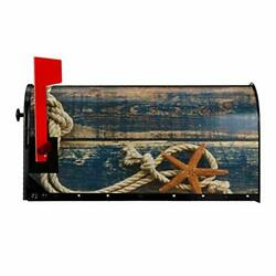 Starfish Summer Mailbox Covers Magnetic Old Wooden Mailbox Cover Large 21quot;x18quot; $23.24