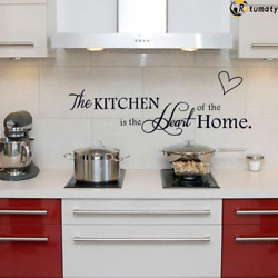THE KITCHEN IS THE HEART OF THE HOME Quote Words Vinyl Wall Decal Decor Sticker $10.99