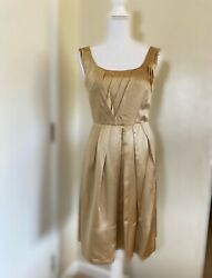 Banana Republic Silk Golden Midi Dress Cocktail Size 2 4 $20.00