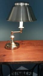 Vintage Brass Swing Lamp Portable Table Top Plymouth Harlee $27.99