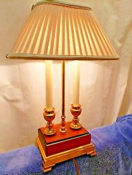 Frederick Cooper Brass Wood Table Desk Lamp 23quot; Frederick Cooper Shade $184.00