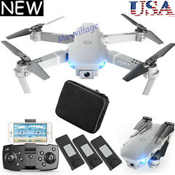 FPV Wifi RC Drone Wide Angle HD 4K Camera Foldable Quadcopter Selfie 3 Battery $59.99