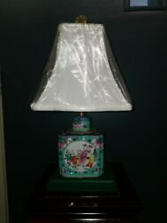 Oriental Porcelain Lamp 11quot; from base to socket. $95.00