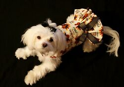 XX Small Thanksgiving Wobble Gobble Dress Dog dress clothes Puppy Apparel $11.99