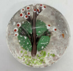 Vintage Tree Glass Paperweight $10.00
