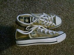 Converse All Star Kids Youth Size 4 Womens Size 5.5 Clear Transparent Shoes $22.99