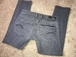 G Star Mens Attacc Gray Straight Leg Jeans Size 34x32 34x31 actual $38.00