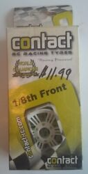 2 CONTACT 1 8 Foam RC RACING TIRES J83201 Front 32Sh White Rims w Tyres $12.99