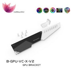 LED Acrylic Graphics Card Bracket SYNC Light GPU Support Aurora 5V 3Pin aRGB $22.99