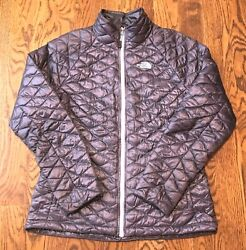 The North Face Thermoball Jacket Womens Large Puffer Packable Light Purple $99.99