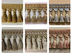 Tassel Fringe Trim 3.5quot; TF 5 Collection Drapery Upholstery home decor $10.45