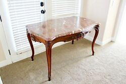 Beautiful Granite Top Antique Table Partners Table Drawer Table $750.00