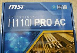 MSI H110i Pro AC Motherboard Bent Pins For Parts Not Working B 10001 $39.99