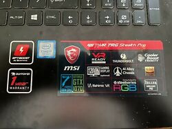 msi gaming laptop 17.3  2 years old.  Slightly used condition.   $1020.00