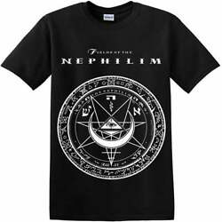 Fields Of The Nephilim T Shirt vintage for men women black new Black Cotton Tee $16.99