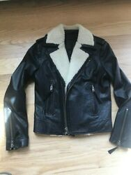 Womens Leather Bomber jacket Joie Size Small $60.00