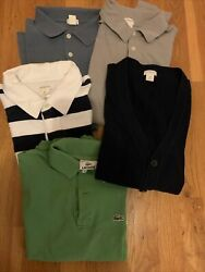 Ultimate Designer Boys Lot Polos Sweater Sz 16 Crewcuts Lacoste Mint Sale