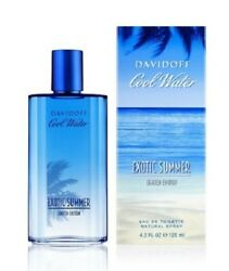 Davidoff Cool Water Exotic Summer For Men EDT 4.2 oz 125 ml Spray New amp; Sealed $42.00