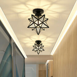 Moravian Star Ceiling Lamp Frosted Glass Pendant Light Ceiling Fixture Lighting $46.79