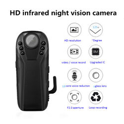 Full HD Infrared Night Vision Small Camera Police Body Camcorder Cam 125 Degrees $32.08