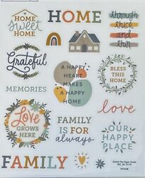 2 Sheets Bless This Home Inspirational Stickers Papercraft Planner DIY Crafts $2.99
