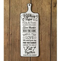 Rustic Country Farmhouse Decor quot;Kitchen Rulesquot; Metal Sign $39.99