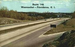 Cars Route 146 Woonsocket Providence RI Rhode Island 1970#x27;s Vintage Postcard $13.27