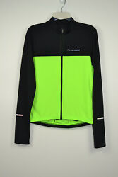 Pearl Izumi Womens Black Neon Full Zip Long Sleeve Cycling Jersey Top Size S $29.99