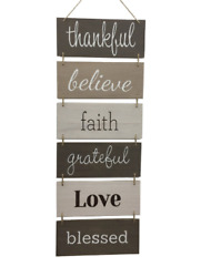 Wall Décor Sign Welcome Vertical Wall Art Decorations Rustic Home Accessories $25.60