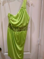NEW Ruby Rox Junior Party Dress One Shoulder Size M Made in USA $19.99