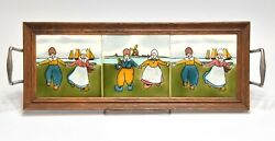 VINTAGE ENGLISH ARTS AND CRAFTS MISSION TILE SERVING TRAY DUTCH SCENE $99.99