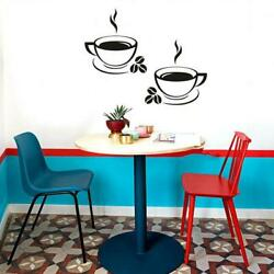 Coffee Cups Kitchen Wall Stickers Art Vinyl Decal Restaurant Pub Cafe Home Decor $4.39