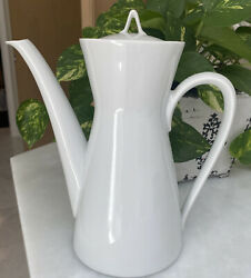 Rosenthal CLASSIC MODERN WHITE Continental 5 cup Coffee Pot #2000 EUC Vintage $30.00