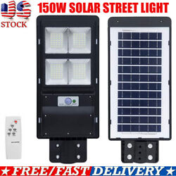 990000LM150W Commercial Solar Street Light LED IP65 Dusk Dawn With SensorRemote