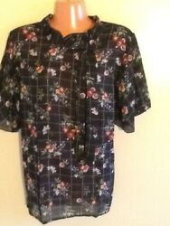 Women#x27;s Plus Size Relaxed Short Sleeve Floral Print Blouse Top 1X 2X 3X $13.99