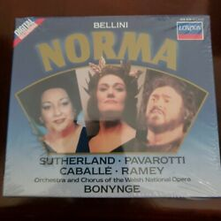 Norma Bellini Opera Bonynge London 3 CD Set *excellent* music $25.00