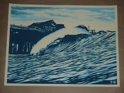 Pop Wave Blue Shepard Fairey Obey Giant signed poster urban art print Jaws $599.99