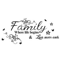 Home Wall Stickers FAMILY Letter Quote Removable Vinyl Decal Room Decor#ER7 $6.39