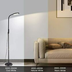 Versatile Floor LED Lamp With 5 Brightness Levels And 3 Colors Temperatures $48.49