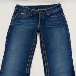 Ariat Denim Womens Size 28R Bootcut Jeans Embroidered Pockets $35.99
