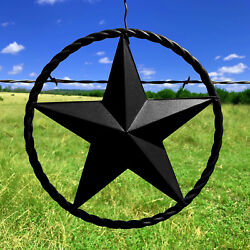Rustic Dimensional Barn Star 12quot; Black Metal Country Farmhouse Home Decoration $31.97